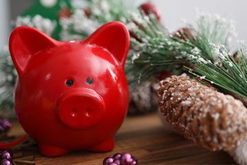Christmas Club piggy bank